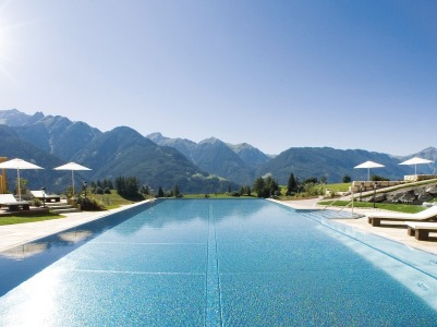 Pool And Sun Terrace At Wellness-Residenz Schalber