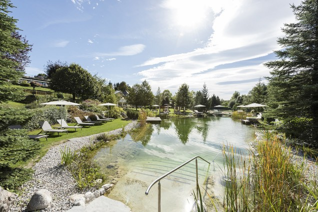 Natural Bathing Pool At the Hotel Gmachl, Bergheim, Austria