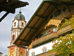 Ornately Carved Gabled Roofs And Balconies Are Found Throughout Mittenwald