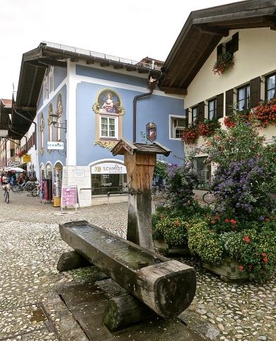 Water Fountain In Mittenwald