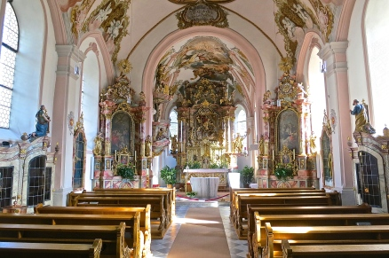 Interior Of Serfaus Parrish Church