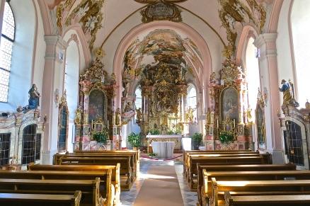 Interior Of Serfaus Parrish Church