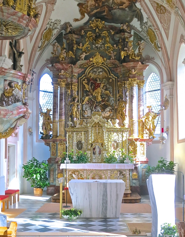 Beautiful Alter Of Serfaus Parish Church