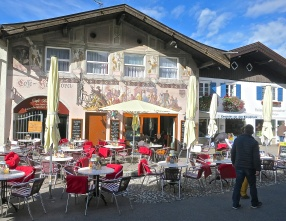 Enjoy A Pastry And Coffee At One Of The Outdoor Cafes In Mittenwald