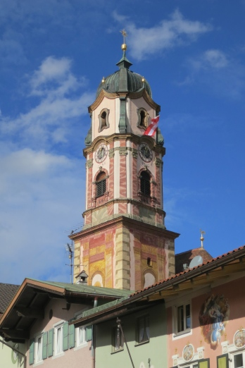 The Beautifully Painted Bell Tower Of The Parish Church Can Be Seen Throughout The Town