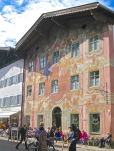 Neuner Haus, Mittenwald, Germany Painted With The Twelve Apostles In The 1700's