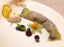 Blueberry Crepe With Homemade Lemon Ice Cream