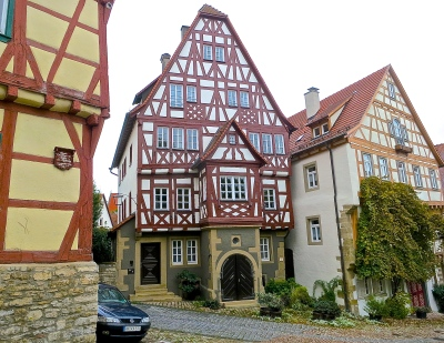 Half Timbered Buildings In Bad Wimpfen