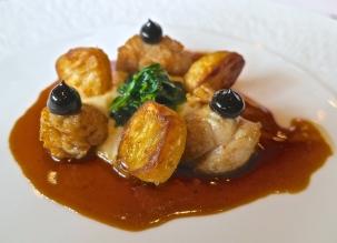 Sautéed Veal Sweetbreads With Celeriac, Lamb's Lettuce And Black Truffle Vinegar