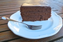 A Slice Of Sacher Torte Makes A Perfect Snack Outside On The Terrace