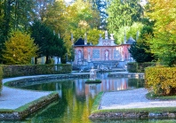 Hellbrunn Garden And Water Fountains