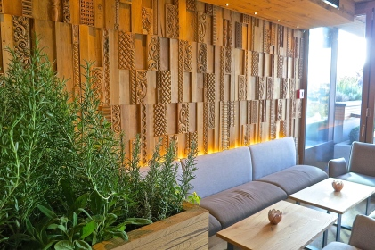 The Lounge Area Of The Bar With Sage And Rosemary Growing In Planters