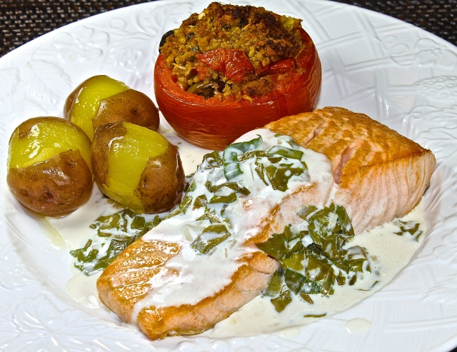 Salmon With Sorrel Sauce, A True Classic