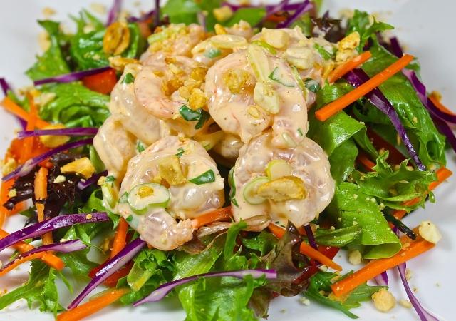 Asian Shrimp Salad Inspired By A Vietnamese Bahn Mi Sandwich