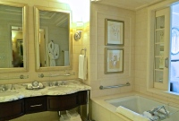 St. Regis Bathroom With Twin Vanity, Large Soaking Tub And Separate Walk In Shower