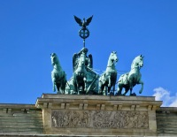 The Quadriga Sculpture, The Goddess Of Victory Tops TheBrandenburg Gate