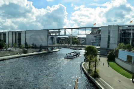 Federal Chancellery Connects East And West Berlin