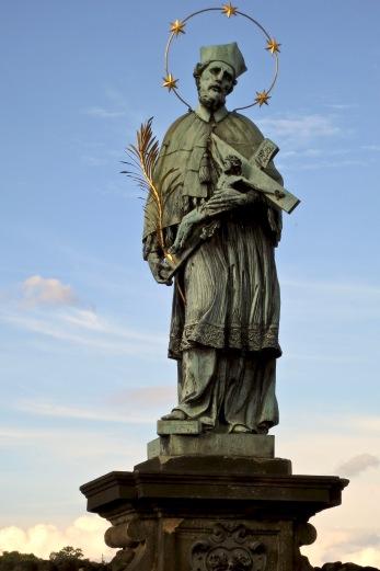 Statue On Charles Bridge