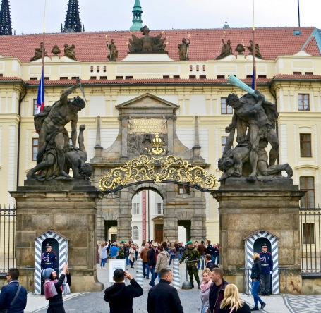 Prague Castle Entrance And Matthias Gate