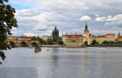 Charles Bridge And The Vltava River, Prague