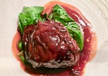 Braised Veal Cheeks With Spinach With Raisins And Pine Nuts