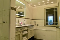 Wellness Bathroom With Large Soaking Tub And Walk In Shower