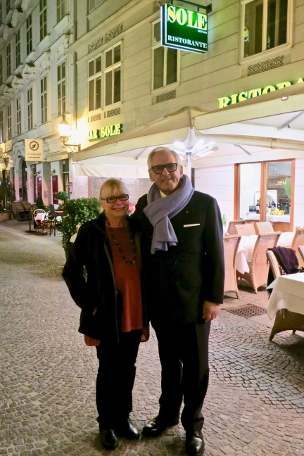 Outside Sole Restaurant With Owner Aki Nuredini