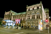 Live Performance Being Shown On Outdoor Screen At Vienna Opera