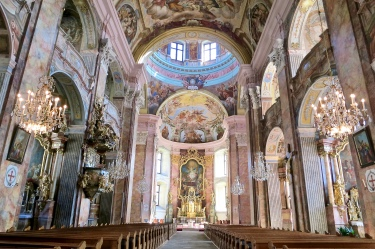 The Beautifully Painted St. Vitus Church Interior