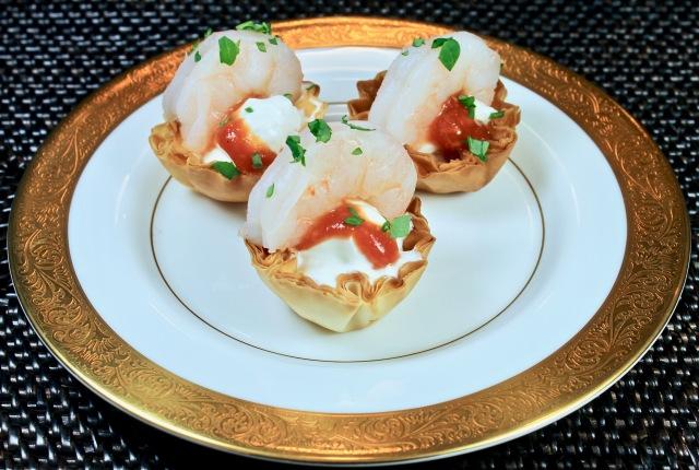 Shrimp Cocktail Phyllo Bites