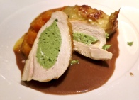 Stuffed Chicken Breast With Pumpkin And Potato Gratin