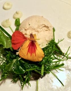 Salmon With Horseradish And Wild Herbs