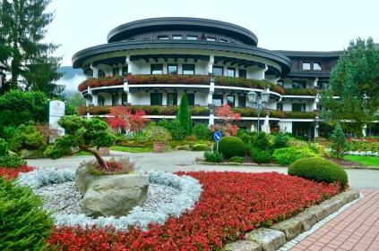 Beautiful Gardens Surrounding The Hotel Bareiss
