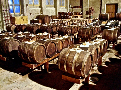 Barrels Of Balsamic Vinegar Aging At Cavazonne
