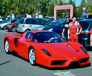 Ferrari Being Delivered To New Owner