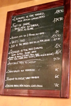 Alsace Menu With Specials Of The Day