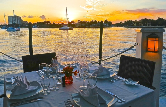Sunset Dining On The Dock