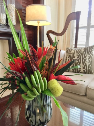 A Beautiful Tropical Flower Arrangement At The Pillars Hotel