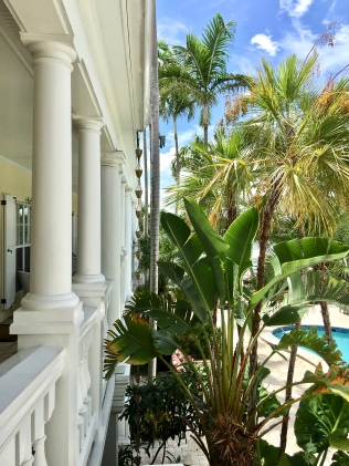 Balcony Overlooking Pool and Tropical Garden