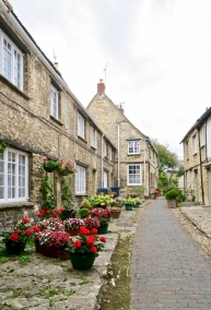 Small Burford Street In The Cotswolds