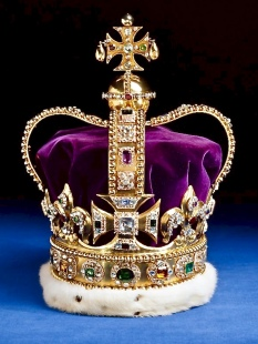 St Edward's Crown Used At The Moment Of Coronation
