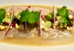 Sea Bass Ceviche With Avocado, Corn And Red Onion