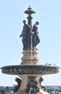 The Fountain In The Center Of Place de la Bourse