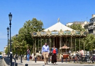 Two Tier Carousel Near Place de la Comedie