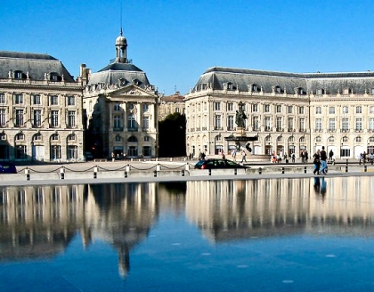 Water Mirror In Front Of Place de la Bourse Photo: Courtesy Olivier Aumage Wikimedia