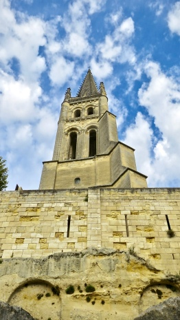 Saint-Emilion Bell Tower Rises Above Everything In The Village