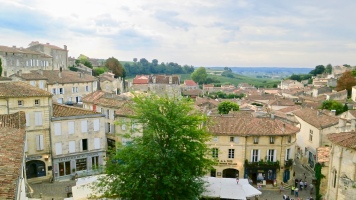 The Terra Cotta Rooftops Of Saint-Emilion