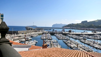 Looking Down On Bermeo Harbor From The Fisherman's Museum