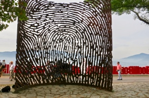 Fingerprint Sculpture In Artxanda Park Bilbao