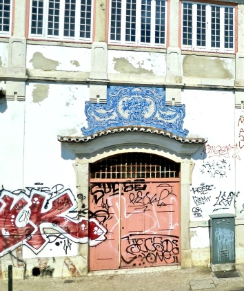Graffiti Covers Once Grand Building